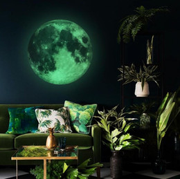 Wall sticker earth online shopping - Creative home luminous moon sticker luminous sticker earth cm moon luminous wall stickers