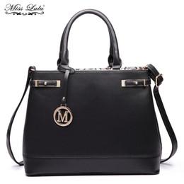 $enCountryForm.capitalKeyWord Canada - Miss lulu Women Designer Celebrity PU Leather Handbag Large Shoulder Bags Ladies Tote Multi Compartments Crossbody Bags YD6617