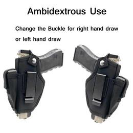 Gun holsters online shopping - Tactical Gun Holster Belt Metal Clip Ambidextrous IWB OWB Universal Pistol Holster Gun Holder Fits Subcompact to Large Handguns