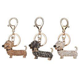 China Fashion Dog Dachshund Keychain Bag Charm Pendant Keys Holder Keyring Jewelry For Women Girl Gift Keychain Jewelry New cheap dog bag holders suppliers