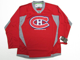70590cf2a Cheap custom MONTREAL CANADIENS HABS RED PRACTICE HOCKEY JERSEY stitch add  any number any name Mens Hockey Jersey XS-5XL