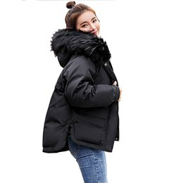 Single Hair Weave UK - 2019 new 2018 Real New Arrival Down Jacket Winter Jacket Women Single Full Slim Hair Cotton-padded Clothes Big Jacket Coat 907
