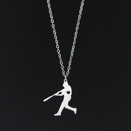 Wholesale Baseball Pendant Necklace Exercise Stainless Steel Love Sports Jewelry Unique Silver Gift for Baseball Fans New Arrival