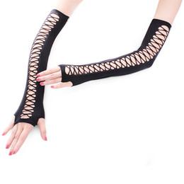 $enCountryForm.capitalKeyWord Australia - European And American Nets Mesh Gloves Punk Night Clubse Sexy Black High Quality Gloves Wholesale 5pair lot