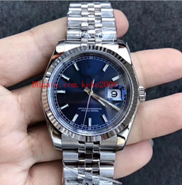 mens luxury automatic watch swiss movement Canada - Luxury Best quality Wristwatch AR Factory Datejust 116234 36mm Blue 904L Swiss ETA 3135 Movement Automatic mechanical Mens Watch Watches