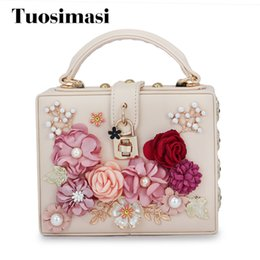 $enCountryForm.capitalKeyWord NZ - crossbody bag designer leather handbags high quality new arrival women bag flower diamond box shaped shoulder bags(C1751) Y18103004