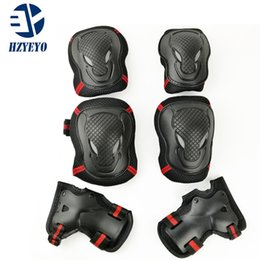 $enCountryForm.capitalKeyWord NZ - HZYEYO 6pcs Skating Protective Gear Sets Elbow Knee Pads Riding Skateboard For Adult , H015 , free shipping