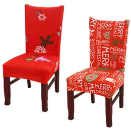 Elastic chairs online shopping - christmas Chair covers Home Dining Multifunctional antifouling Chair Cover Removable Elastic Xmas Slipcovers Seat Covers MMA1052