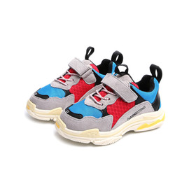 Venta al por mayor de Los niños calientes calzan los zapatos de primavera y otoño niños y niñas de malla transpirable zapatos casuales envío libre al por mayor tamaño 21-37