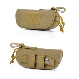 SunglaSSeS tactical online shopping - Tactical Molle Zipper Eyeglasses Case D Nylon Anti Shock Hard Clamshell Eyewear Carry sunglasses pouch bag with POM Clip