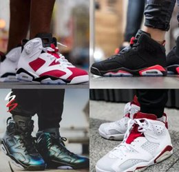 5d5ba8dbb24  With Box  Cheap online hot Sale New Best Mens basketball shoes 6 XI 6 J6 J  6s Carmine Sneakers Sport Shoe for men US size 8-13