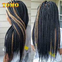 $enCountryForm.capitalKeyWord NZ - TOMO Crochet Braids Senegalese Twist Synthetic Hair Bluk Pure Ombre Grey Brown Pre Crochet Braiding Hair Extensions For Black 22Roots Pack
