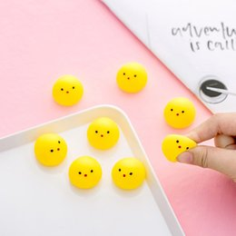 cute chicken toys 2019 - 10pcs Mini Squishy Toy Yellow Chicken Anti-stress Cute Joke Fun Toys For Chlidren Squish Chick Can Make Voice Funny Sque