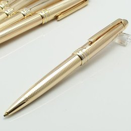 Quality Metal Pens Australia - Luxury High quality M pen Germany Brand metal silver checker Rollerball and ballpoint pen dropship