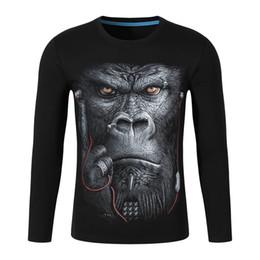 Discount t shirt burlon - Wolf Punk t Shirt Men Long Sleeve Print Mokey Marcelo Burlon Mens Tshirts Summer Kanye West Magliette Donna Summer Top D