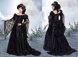Fantasy pieces online shopping - Dark Roses Bustle ball Gown prom dresses Couture Dark Fantasy medieval renaissance victorian fusion gothic evening masquerade corset dress