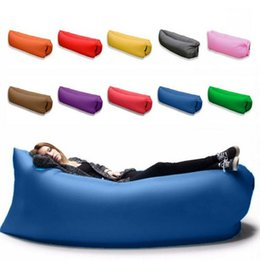 Wholesale Lounge Sleep Bag Lazy Inflatable Beanbag Sofa Chair Living Room Bean Bag Cushion Outdoor Self Inflated Furniture sleeping bed wn522 pc
