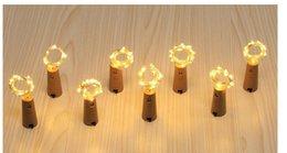Vente en gros Ambiance de bouteille de vin rouge LED chaîne de lampe 2 mètres bouchon de bouteille artisanat décoratif lampe de fil de cuivre barre de lampe