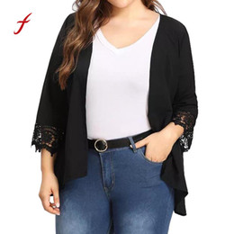 Open Clothes Canada - 2018 popular women clothing Lace Open Front Loose feitogn brand Women's Plus Size Causal Lightweight Kimono Cardigan