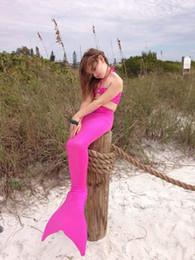 $enCountryForm.capitalKeyWord NZ - Discount Baby Kids Mermaid Bikini Swimsuit Fancy Mermaid Tail Halloween Cosplay Costume For Grils Swimming Ariel Tails