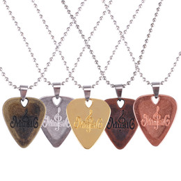 Necklaces Pendants Australia - Hot Selling Personalized Guitar Pick Necklace Zinc Alloy Picks Pendants Necklace