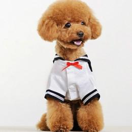 $enCountryForm.capitalKeyWord NZ - Fashion Spring Dog Clothing Sailor Cat Clothes Chihuahua Puppy Costume Dog Dress Pet School Uniform Outfit Garment Summer Dog Apparel
