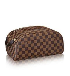 906543e24f92 Hot Makeup Bag Damier Canvas Extra Large Washing Bag N47527 WALLETS  OXIDIZED LEATHER CLUTCHES EVENING LONG CHAIN WALLETS COMPACT PURSE