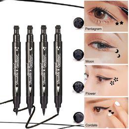 Brand 1 Set Eyeliner Seal Stamp Air Cushion Liner Fluid Brush Balck Eye Liner Gel Cat Style Eye Wing Beauty Makeup Tools Kit