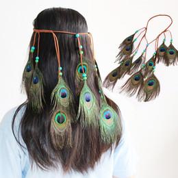 $enCountryForm.capitalKeyWord NZ - Bohemian Feather Headband Festival Hippie Girls Fashion Boho Colorful Hair Band Accessories for Women Styling Peacock Headdress Adjustable