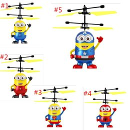 children toys drones 2019 - RC helicopter Drone kids toys Flying Ball Aircraft Led Flashing Light Up Toy Induction Electric sensor for Children 7 st