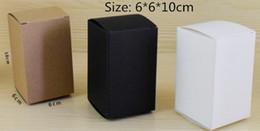$enCountryForm.capitalKeyWord NZ - 50pcs 6*6*10 White Black Kraft Paper Box DIY packaging box paper craft package free shipping