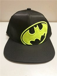 4317973125edf Batman Cap Kids Australia - Children Black Batman Cosplay Hat Cotton Flat Snapback  Caps For Halloween