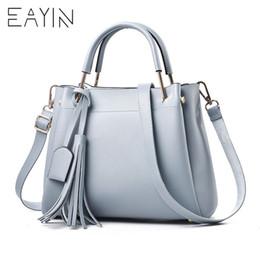 $enCountryForm.capitalKeyWord Australia - EAYIN Luxury Handbags Women Bag Designer 2018 Big Ladies Hand Bag For Women Solid Shoulder Bag Brand Tassel Leather Handbag