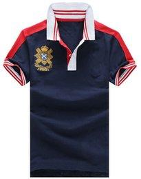 $enCountryForm.capitalKeyWord Australia - On Sale Summer Solid Polo Shirts For Men Big Pony Embroidery Male Casual Polos Cotton Polo Shirt Tops White Navy Blue M-XXL