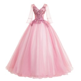 Wholesale cosplay medieval online – ideas Freeship light pink flare fairy princess long gown medieval dress cartoon princess Medieval Renaissance Gown queen cosplay Victoria dress