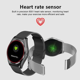 Wrist Watch Mp3 Mp4 NZ - 2018 New N3 Smart Watch Wrist Bluetooth Fashion New Camera Heart Rate For iOS Android Support MP3 MP4 local playing
