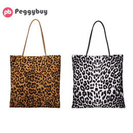 $enCountryForm.capitalKeyWord NZ - Leopard Print Large Tote Flannel Shoulder Bag Handbags Women Shopping Bags