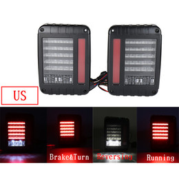 $enCountryForm.capitalKeyWord NZ - Europe US Type Car Taillight LED Tail Light With Brake Turning Reverse Light For Jeep Wrangler SUV Modified vehicle Tail Light