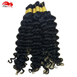 Wholesale Hannah product Human Hair Bulk In Factory Price Bundle g Brazilian Deep Curly Wave Bulk Hair For Braiding Human Hair No Weft