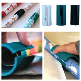 Cutter Christmas NZ - Christmas Gift Paper Package Sliding Wrapping Paper Cutter Cylinder Packaging Knife Clearance Wrapping Paper Cutting Tools Making Cuts