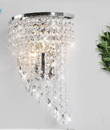 Wholesale crystal Wall lamp K9 chandelier light E14 led bulb lamp living room bedroom bedside Fashion Wall Sconce Hallway Hotels corridor Lamp