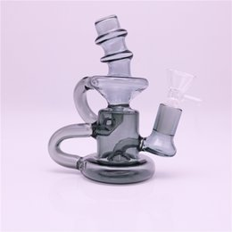 $enCountryForm.capitalKeyWord Australia - Recycler Elvis Klein mini glass bong oil rig dab recycler glass bong water pipe hookahs 14mm female joint with glass bowl