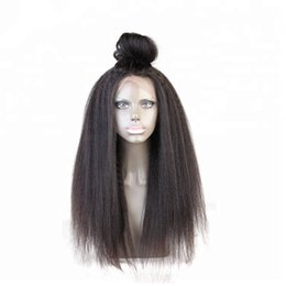 Pretty brazilian human hair online shopping - Pretty discount aaa raw unprocessed remy virgin human hair long natural color yaki straight full lace cap wig for lady