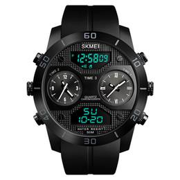 Luminous big man watch online shopping - Big size Men s Watches Top Luxury Quartz Watch Men Fashion Casual Luminous Analog LED Digital Clock Relogio Masculino