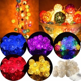 $enCountryForm.capitalKeyWord Australia - Christmas 2 .2m 20 Lamp 4cm Color Rattan Ball Battery Box Led String Lights New Year Christmas Decor Ornaments for Home Navidad .B