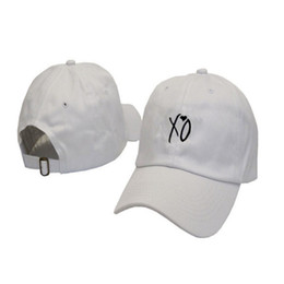 Creative Women Men XO Letter Hats Love Pattern Hip Hop Baseball Cap Cotton  Black White Color Originality Snapback Hot Styl 16yz ff 2229ab0a6116