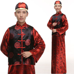Discount disfraces costumes - 2016 Polyester Rushed Promotion Disfraces Ancient Chinese Costume Dance Costumes Costum Traditional Tang Suit For Men