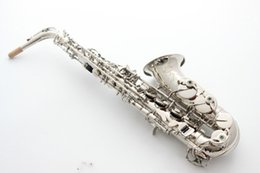 e saxophone 2019 - France SAS-R54 E flat musical instruments Alto saxophone Nickel Plated Top professional & Accessories Free Shipping chea