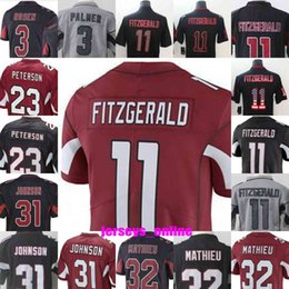 c7c419482 2019 Mens Arizona  11 Larry Fitzgerald 3 Josh Rosen 31 David Johnson  Cardinal 32 Tyrann Mathieu 23 Adrian Peterson Jerseys