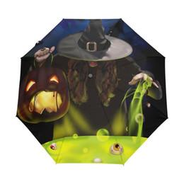 $enCountryForm.capitalKeyWord Australia - Hot Sale Cool Happy Halloween Umbrella Adults Custom Horror Design Men Umbellas Fashion Foldable Sun and Rain Umbrella